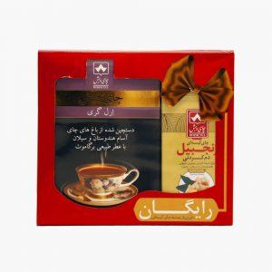 پک عیدانه چای ارل گری 500 گرمی با یک بسته تی بگ رایگان