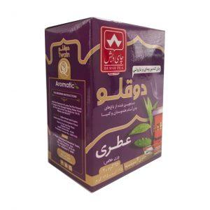 چای دو قلوی عطری دبش 250 گرمی به همراه یک بسته تی بگ رایگان